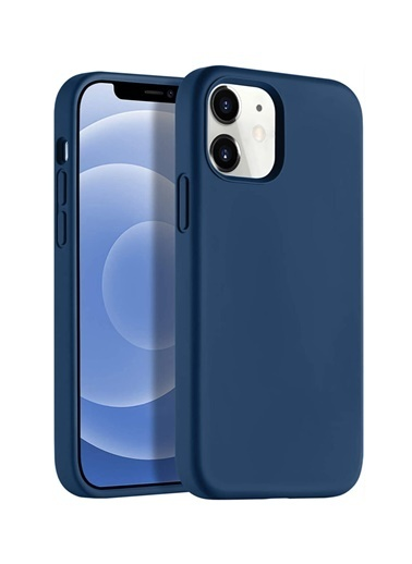 "Bludfire Apple Iphone 12 Pro 6.1"" Soft Touch Altı Kapalı Liquid Silikon Lansman Kılıf 1261 Lacivert"